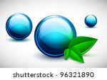 glass balls blue with green... | Shutterstock .eps vector #96321890
