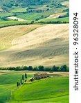 farm in the middle of fields... | Shutterstock . vector #96328094