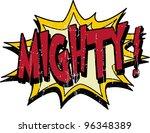 mighty | Shutterstock .eps vector #96348389