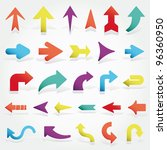 vector arrows set | Shutterstock .eps vector #96360950