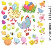 easter set | Shutterstock .eps vector #96361187