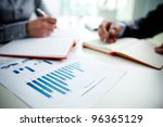 image of document with charts... | Shutterstock . vector #96365129