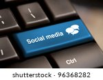 social media button on a... | Shutterstock . vector #96368282