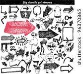 doodle set   doodles   arrows | Shutterstock .eps vector #96370865
