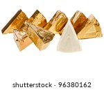 triangle piece of cheese in... | Shutterstock . vector #96380162