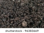 close up of soil and compost mix - stock photo