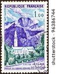 france   circa 1960  a stamp... | Shutterstock . vector #96386744