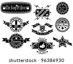 set of vintage label collection ... | Shutterstock .eps vector #96386930