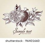 pomegranate fruit | Shutterstock .eps vector #96401660