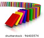 row of colorful books. | Shutterstock . vector #96403574