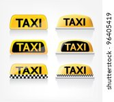 taxi sign set | Shutterstock .eps vector #96405419