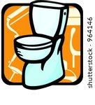 toilet.pantone colors.vector... | Shutterstock .eps vector #964146