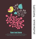 cute greeting card with nice...   Shutterstock .eps vector #96451091