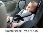 Beautiful Baby Sleeping In Car...