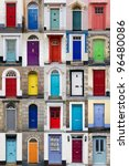 a photo collage of 25 colourful ... | Shutterstock . vector #96480086