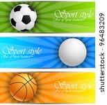 set of sport banners | Shutterstock .eps vector #96483209