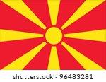 macedonia flag | Shutterstock .eps vector #96483281