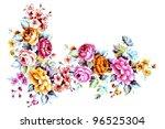 color illustration of flowers... | Shutterstock . vector #96525304