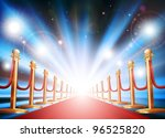a grand entrance with red... | Shutterstock .eps vector #96525820