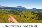 Idyllic Rocky Mountains scenery in Colorado. - stock photo