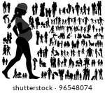 family silhouettes | Shutterstock .eps vector #96548074