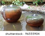 Earthenware Fountain Jar In Th...