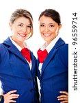 beautiful flight attendants  ... | Shutterstock . vector #96559714