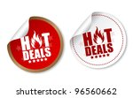 hot deals stickers | Shutterstock .eps vector #96560662