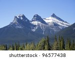 Three Sister Mountains  Canmor...