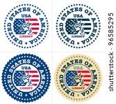Usa Stamp. Statue Of Liberty...