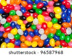 A Pile Of Colorful Candy Easte...