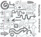hand drawn sketchy doodle... | Shutterstock .eps vector #96589546