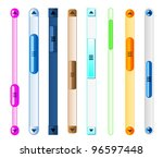 web sliders and buttons for... | Shutterstock .eps vector #96597448