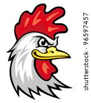 Head Of Cartoon Rooster...