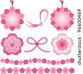 japanesestyle material  cherry...   Shutterstock .eps vector #96600469