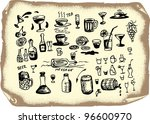 drinks collection | Shutterstock .eps vector #96600970