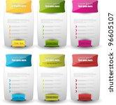 hi quality web elements design. ... | Shutterstock .eps vector #96605107