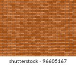 illustration of a red brick wall background - stock photo