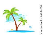 illustration of palm tree in... | Shutterstock .eps vector #96614059