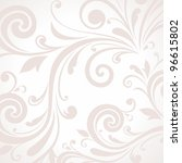 background with floral pattern | Shutterstock .eps vector #96615802