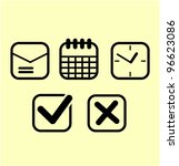Office Icons Set Vector...