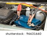 loading the car battery in... | Shutterstock . vector #96631660