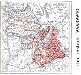 map of department of isere ... | Shutterstock . vector #96639940