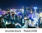 city in the night | Shutterstock . vector #96661408