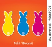 portuguese easter bunny card in ...   Shutterstock .eps vector #96669706