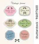 vector set of vintage frames | Shutterstock .eps vector #96697600