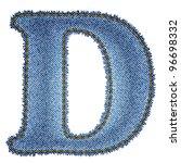 Jeans Alphabet. Denim Letter D...