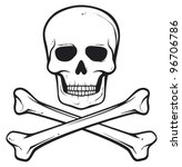 skull and bones  pirate symbol  | Shutterstock .eps vector #96706786