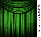 Large Green Curtain Stage