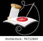 needle with white threads as a... | Shutterstock .eps vector #96712864